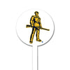 NCAA West Virginia STEEL Garden Stake- Mountain Man
