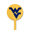 NCAA West Virginia STEEL Garden Stake- Yellow