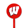 NCAA Wisconsin Badgers STEEL Garden Stake- Red