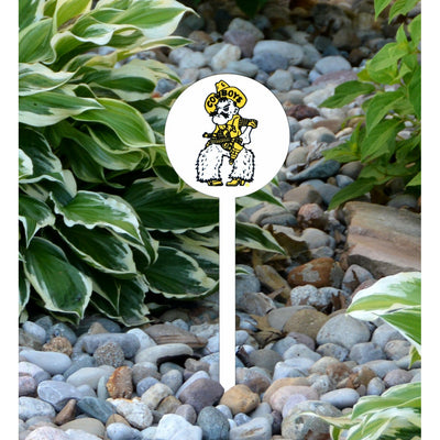 NCAA Wyoming STEEL Garden Stake- Pete