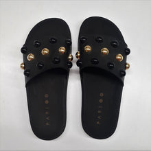 Bubble button Black/Gold Slides - PAREOO