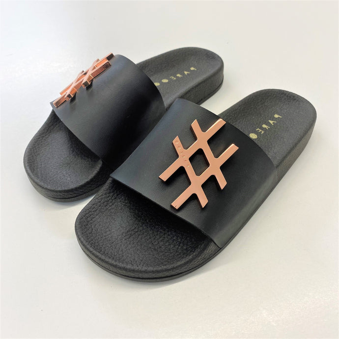 Hashtag Metal Badge Slides - PAREOO
