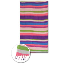 Multi stripes beach towels - PAREOO