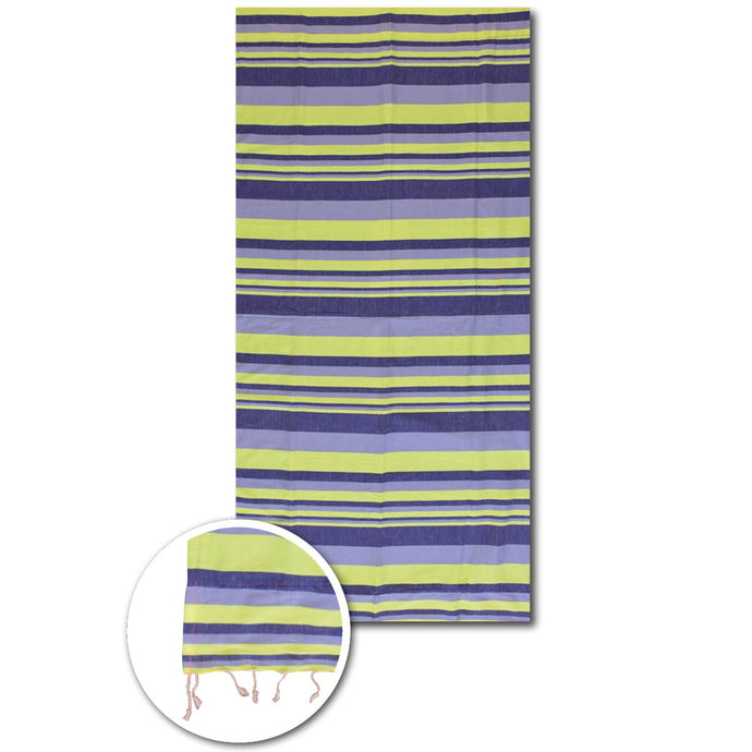 Neon multi stripes beach towels - PAREOO