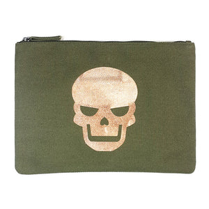 "Metallic Pink Gold ""Da Skull"" Clutch - PAREOO"