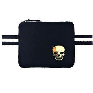 "Black color canva ""Free Hands"" waist Bag - PAREOO"
