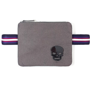 "Gray color canva ""Free Hands"" waist bag"