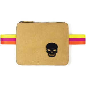 "Bamboo color canva ""Free Hands"" waist bag - PAREOO"