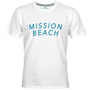 MISSION BEACH LOGO PRINT MEN T-SHIRT - PAREOO
