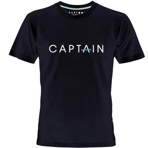 CAPTAIN LOGO PRINT MEN T-SHIRT - PAREOO