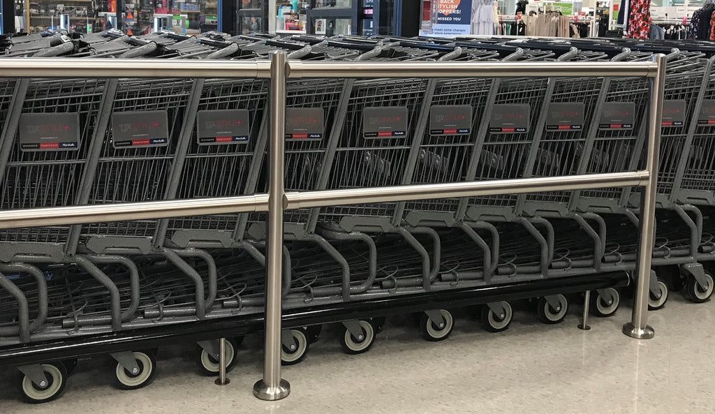 How to install cart corrals?