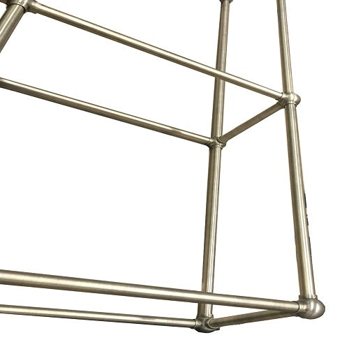 Brass shelving unit
