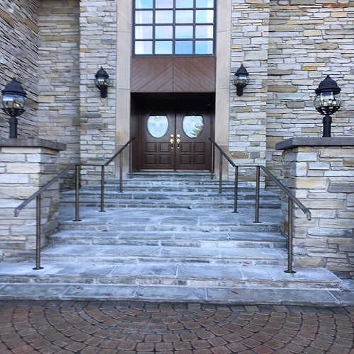 Outdoor metal railings_Oil rubbed bronze finish