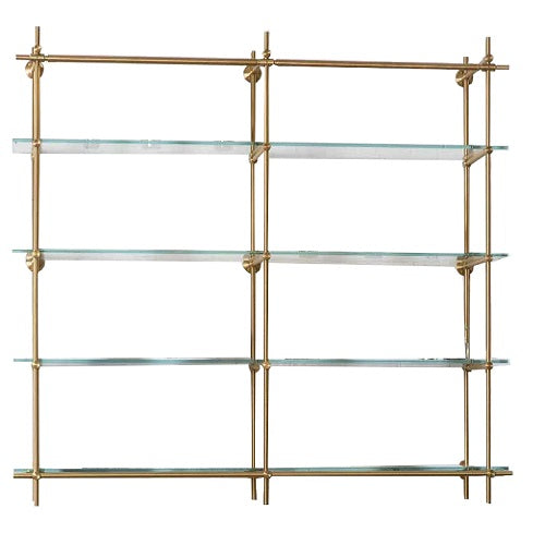 Brass Shelve with Glass