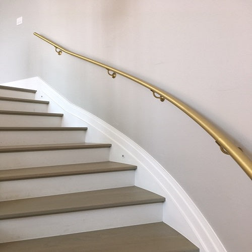 Wall mounted stair railings