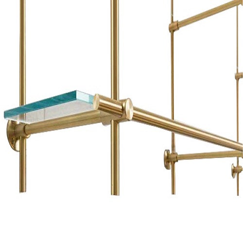 Brass Collector Shelving Units