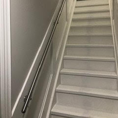 Stair railing in home