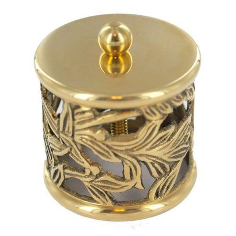 Filigree End Cap brass