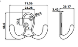"3"" Double Wardrobe Hook Specification"