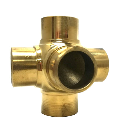 Flush Side-Outlet Cross Brass