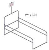 Double Wide Steel Shopping Cart Corral