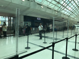 Stanchion Plexi Shields for COVID in Airport