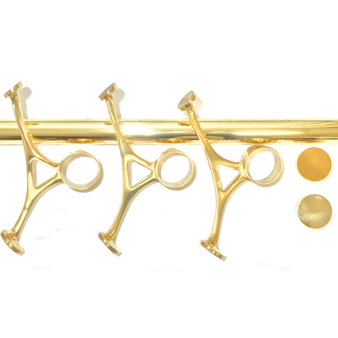 brass bar foot rail kits