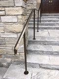 lambs tongue railing - oil rubbed bronze