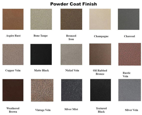 Powder Coat Finish Options