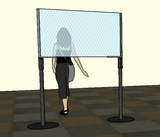 4 foot stanchion topper plexi shield