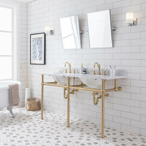 Brass Vanity Frames in Bathroom