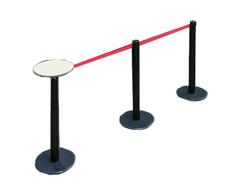 stanchion table post round retractable belt