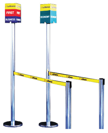 stanchion posts sign cube advertising
