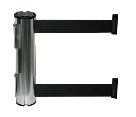 "Dual Wall mount stainless steel 2"" black belt"