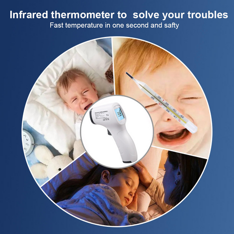 In Stock No Contact IR Digital In Stock Forehead Thermometer - For Adults and Kids