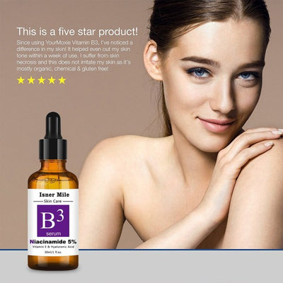 Isner Mile Uses High Quality Natural And Organic Ingredients To Produce Our NIACINAMIDE B3 SERUM