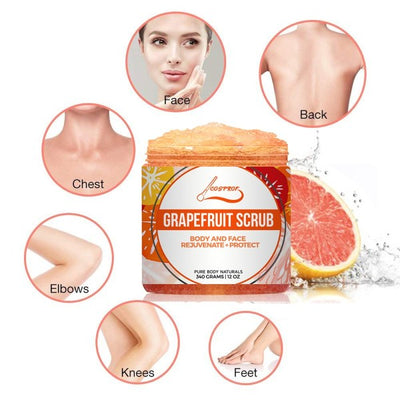 Grapefruit Body Scrub Best Skin Exfoliating For Face And Lip & Body