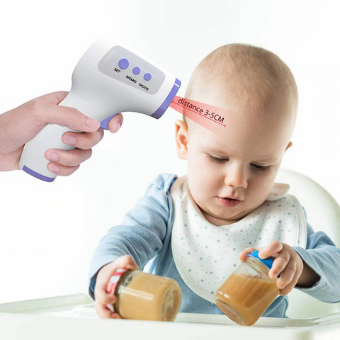 In Stock Infrared Non-contact Thermometer Digital Temperature Measurement Meter LCD IR Infrared Handheld Thermometer Forehead Body Thermometer for Baby Adult