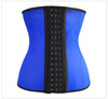 PLUS SIZE 9 STEEL BONED BLACK LATEX WAIST TRAINER (S-6XL)