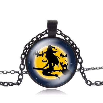 "Pumpkin Pendant 25mm Glass Round ""Halloween Special"""