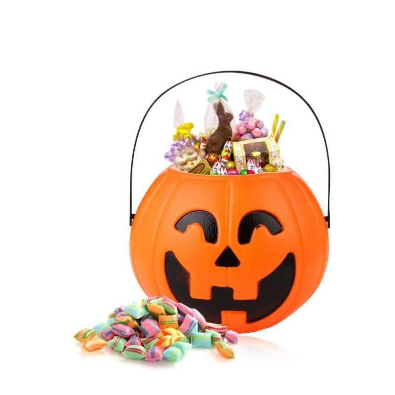Pumpkin Trick Treat Sweet Candy Carry Jar