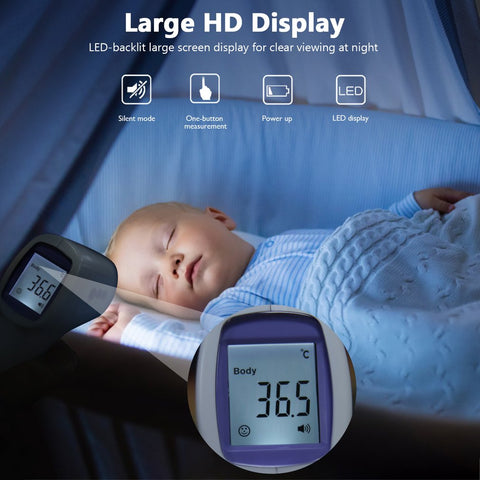 In Stock No Contact Forehead Thermometer - For Adults or Kids