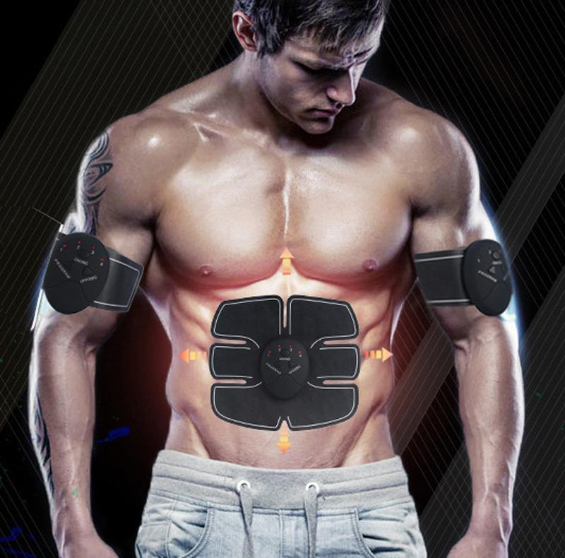 Muscle Stimulator 3-In-1 Electric Pulse Abdominal Abs Ab Trainer Suit Fitness UK