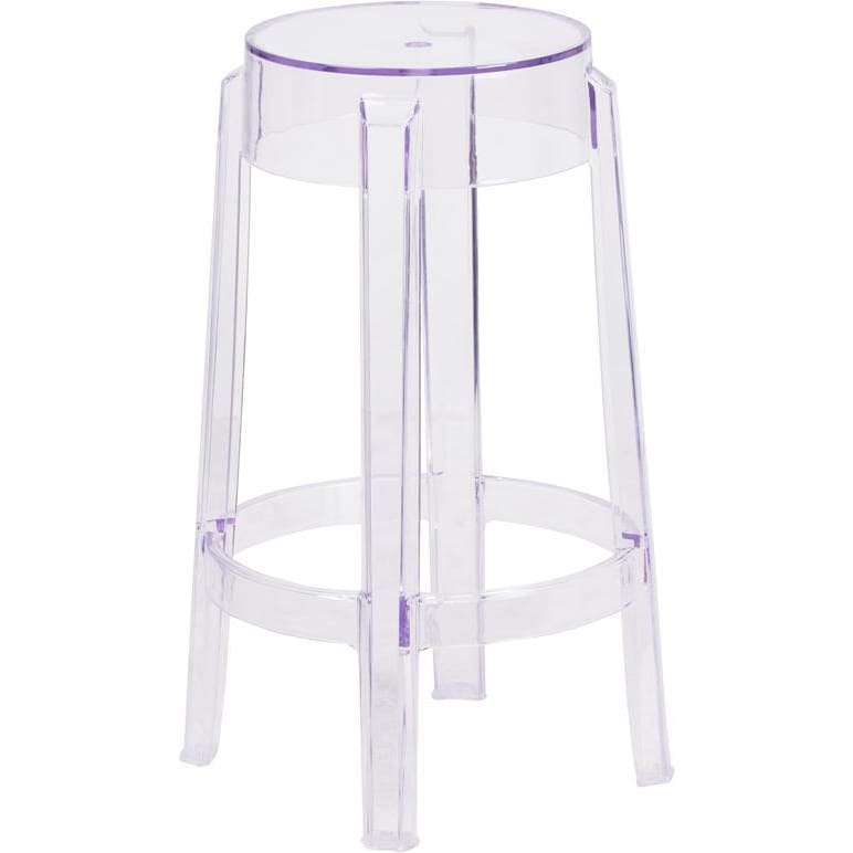 25.75 High Transparent Counter Height Stool - Chiavari Chairs