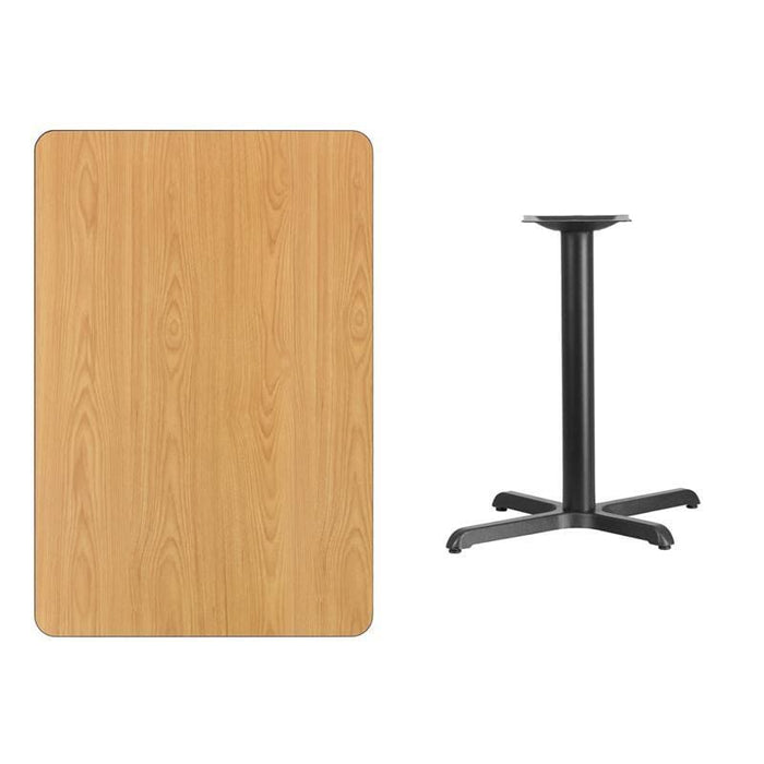 30 X 45 Rectangular Natural Laminate Table Top With 22 X 30 Table Height Base - Restaurant Tables