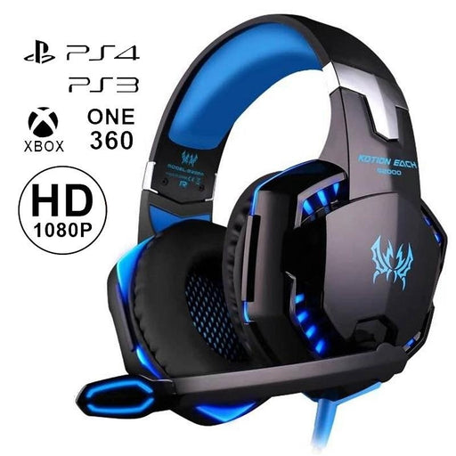 Professional Gaming Headset with HD Mic For PS4 XBOX PC Games Computers Game