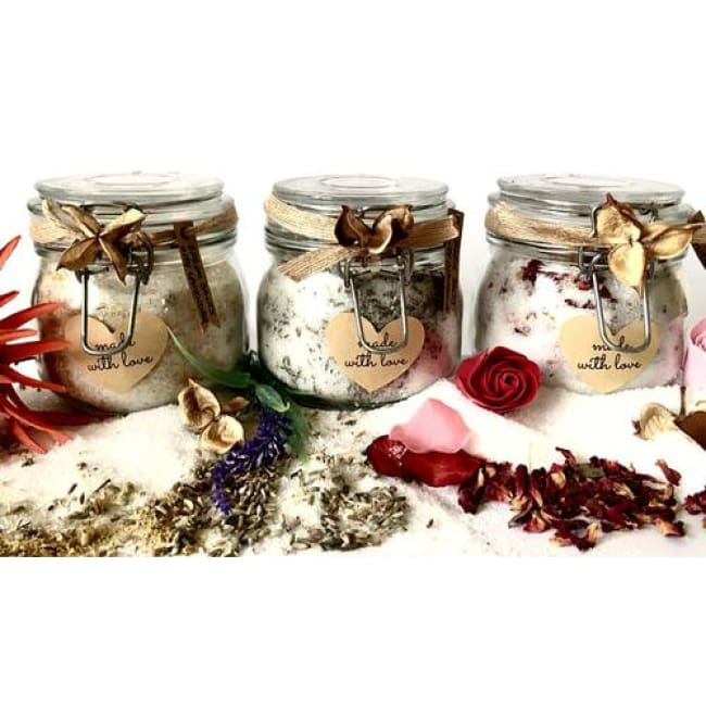 Bath Salts Epsom Salts Bath Salts In Jar Dried - Home & Garden