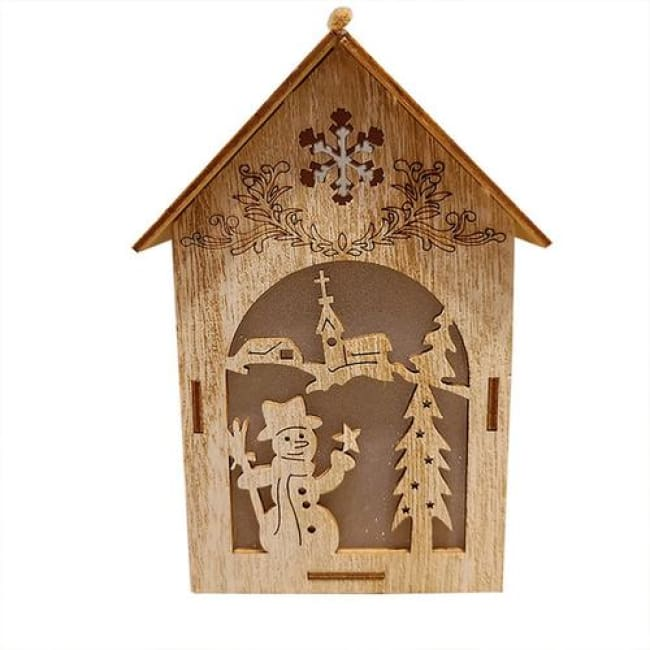 Battery Christmas Ornaments Glowing Cabin Hotel - Home & Garden