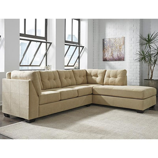 Benchcraft Maier Sectional With Right Side Facing Chaise In Cocoa Microfiber - Living Room Sectionals