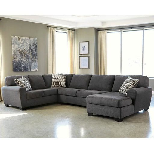 Benchcraft Sorenton 3-Piece Laf Sofa Sectional In Slate Fabric - Living Room Sectionals